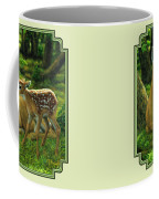 Whitetail Deer - First Spring Coffee Mug by Crista Forest