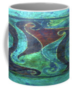 Blue Island Curves Coffee Mug