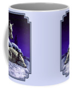 Wolf Painting - Night Watch Coffee Mug by Crista Forest