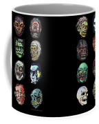 16 Horror Movie Monsters Vintage Style Classic Horror Movies  Coffee Mug