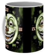 Black Cat 13 Halloween Clock Coffee Mug