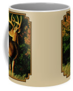 Whitetail Buck - Indecision Coffee Mug by Crista Forest