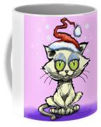 Kitten In Christmas Hat Coffee Mug