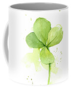 Clover Watercolor Coffee Mug