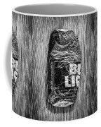Crushed Blue Beer Can On Plywood 78 In Bw Coffee Mug