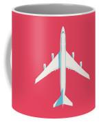 747 Jumbo Jet Airliner Aircraft - Crimson Coffee Mug