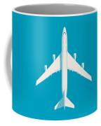 747 Jumbo Jet Airliner Aircraft - Cyan Coffee Mug