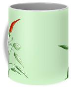 Hot Chili Pepper Plant Botanical Illustration Coffee Mug