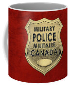 Canadian Forces Military Police C F M P  -  M P Officer Id Badge Over Red Velvet Coffee Mug