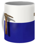 Antique Plumb Masonry Hammer On Color Paper Coffee Mug