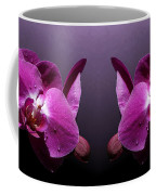 Pink Orchid Flowers Coffee Mug