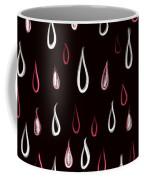 Dark White And Red Raindrops Pattern Coffee Mug