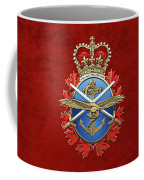 Canadian Armed Forces  -  C A F  Badge Over Red Velvet Coffee Mug