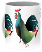 Morning Glory Rooster And Hen Wake Up Call Coffee Mug