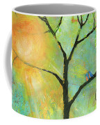 Hello Sunshine Tree Birds Sun Art Print Coffee Mug