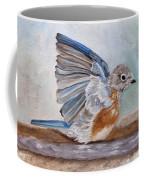 Dip Time - Eastern Bluebird Coffee Mug by Angeles M Pomata