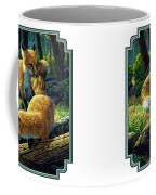 Red Foxes - Sibling Rivalry Coffee Mug