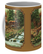 Whitetail Deer - Follow Me Coffee Mug by Crista Forest