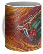 Abstraction With Red Balls Coffee Mug