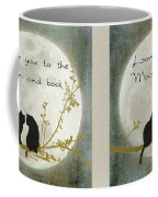 Love You To The Moon And Back Coffee Mug by Linda Lees