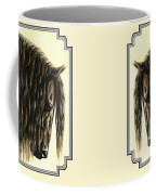 Horse Painting - Friesland Nobility Coffee Mug by Crista Forest