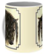 Horse Painting - Friesland Nobility Coffee Mug