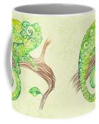 Swirly Chameleon Coffee Mug