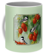 Bird Painting - Apple Harvest Chickadees Coffee Mug