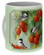 Bird Painting - Apple Harvest Chickadees Coffee Mug by Crista Forest