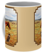 Horse Painting - Waiting For Dad Coffee Mug by Crista Forest