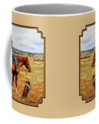 Horse Painting - Waiting For Dad Coffee Mug