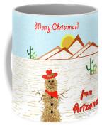 Arizona Tumbleweed Snowman Coffee Mug