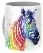 Rainbow Zebra - Ode To Fruit Stripes Coffee Mug