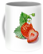 Artz Vitamins A Strawberry Heart Coffee Mug