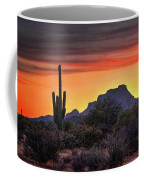 As The Sun Sets On Red Mountain  Coffee Mug
