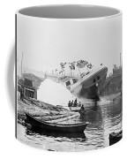Asahel Curtis, 1874-1941, Launching Of The Minnie A. Cain Coffee Mug