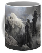 Ash Cloud Eruption On Yasur Volcano Coffee Mug
