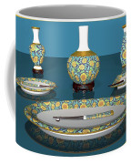 Asian Dining And Vases Coffee Mug