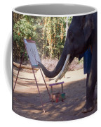 Asian Elephant Painting Picture Coffee Mug