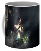 Asian People With Cooking, Living In Rural Countryside, Rural Th Coffee Mug