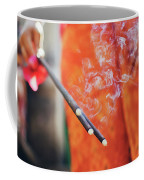 Asian Woman Holding Incense Sticks During Hindu Ceremony In Bali, Indonesia Coffee Mug