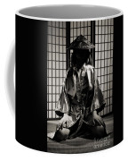 Asian Woman In Kimono Coffee Mug
