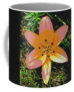 Asiatic Lily With Sandstone Texture Coffee Mug