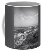 Asilomar Beach Stairway In Black And White Coffee Mug