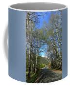 Aspen Lined Road Coffee Mug