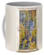 Aspen Tree Magic Cottonwood Pass White Farm House Window Art Coffee Mug