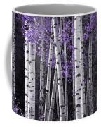 Aspen Trunks Lavender Leaves Coffee Mug