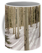 Aspens In Winter 2 Panorama - Santa Fe National Forest New Mexico Coffee Mug