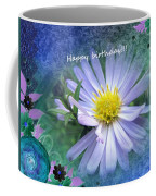 Aster ,  Greeting Card Coffee Mug