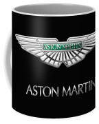Aston Martin 3 D Badge On Black  Coffee Mug